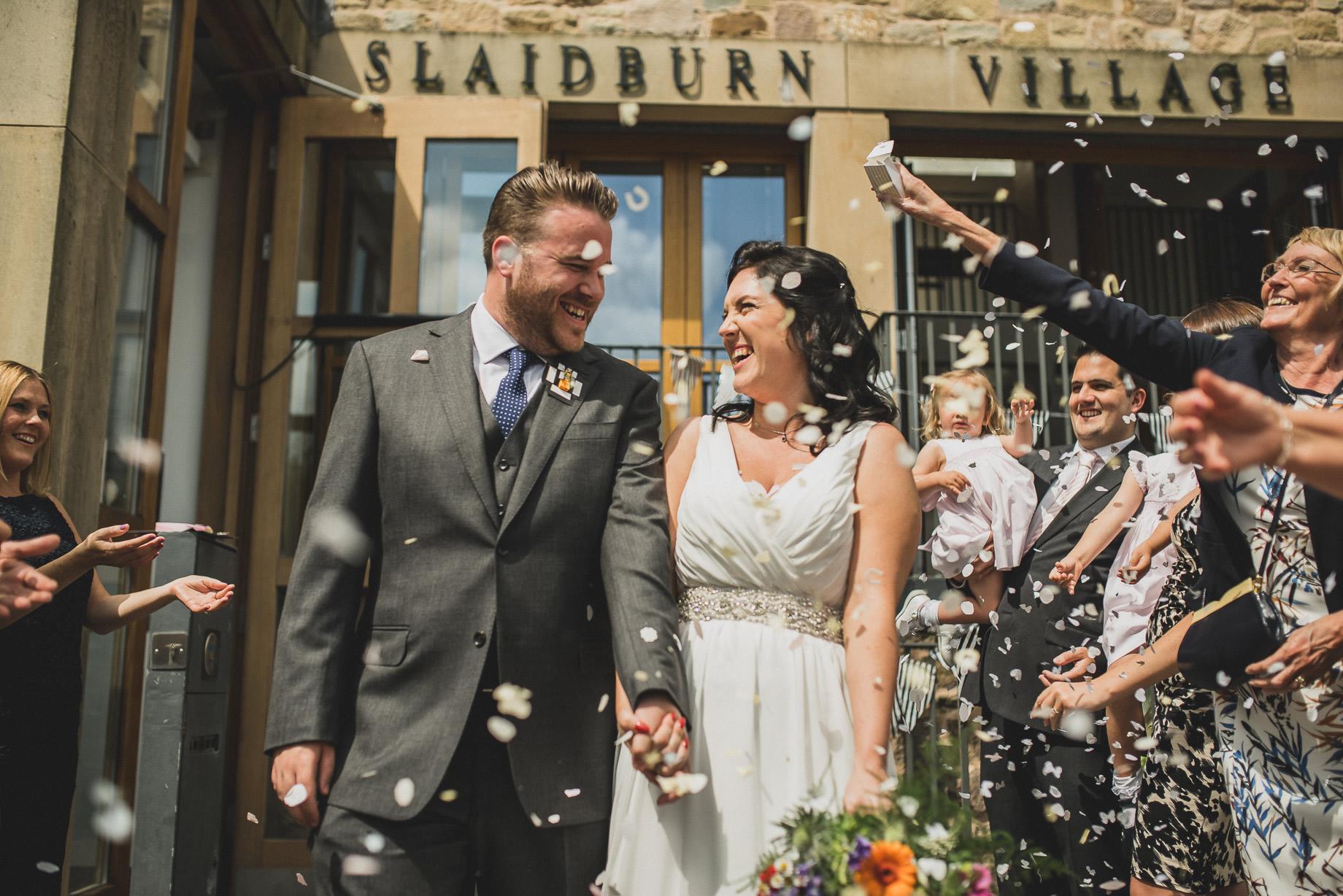 Becky and John's Wedding at Slaidburn Village Hall 103