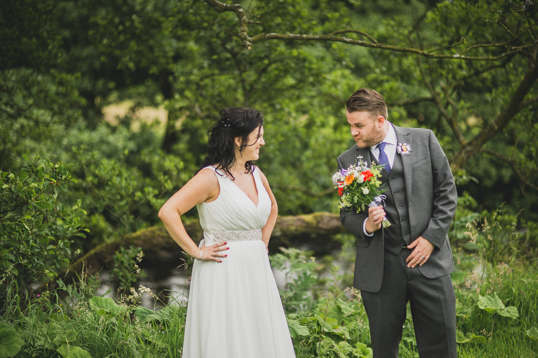 Becky and John's Wedding at Slaidburn Village Hall 124
