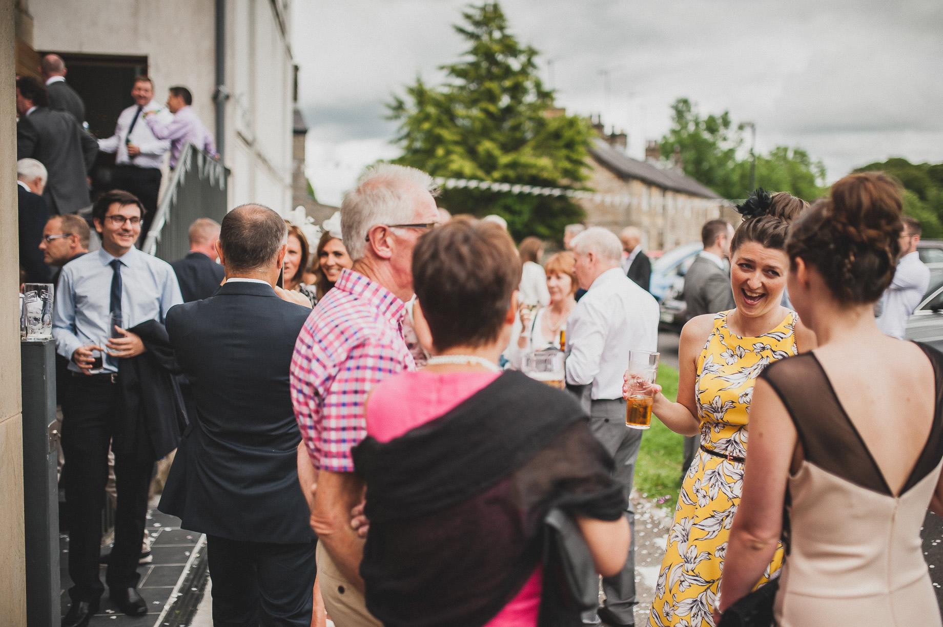Becky and John's Wedding at Slaidburn Village Hall 126