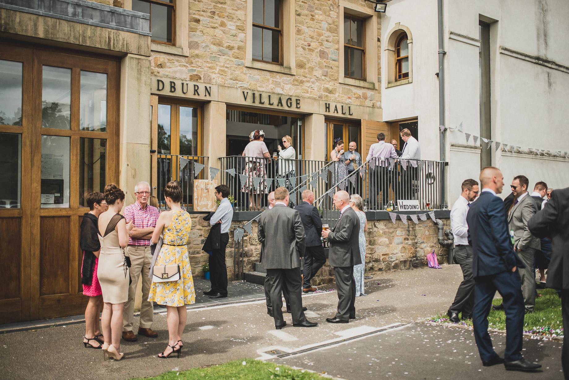Becky and John's Wedding at Slaidburn Village Hall 130