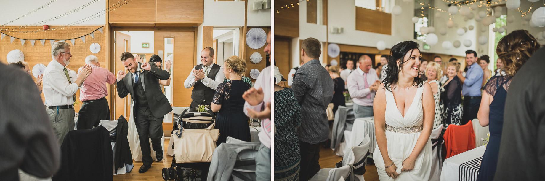 Becky and John's Wedding at Slaidburn Village Hall 140