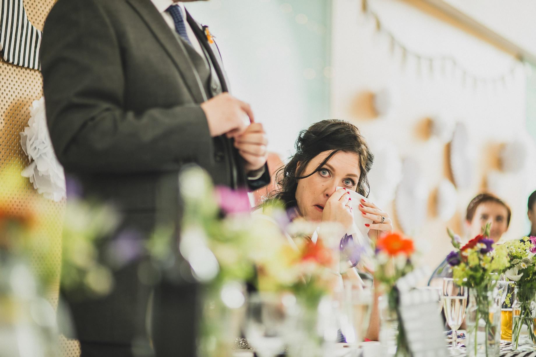 Becky and John's Wedding at Slaidburn Village Hall 143