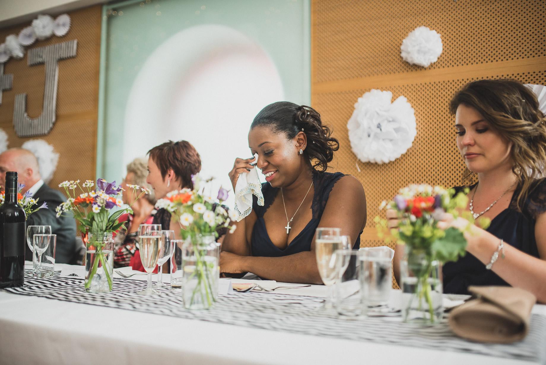 Becky and John's Wedding at Slaidburn Village Hall 146