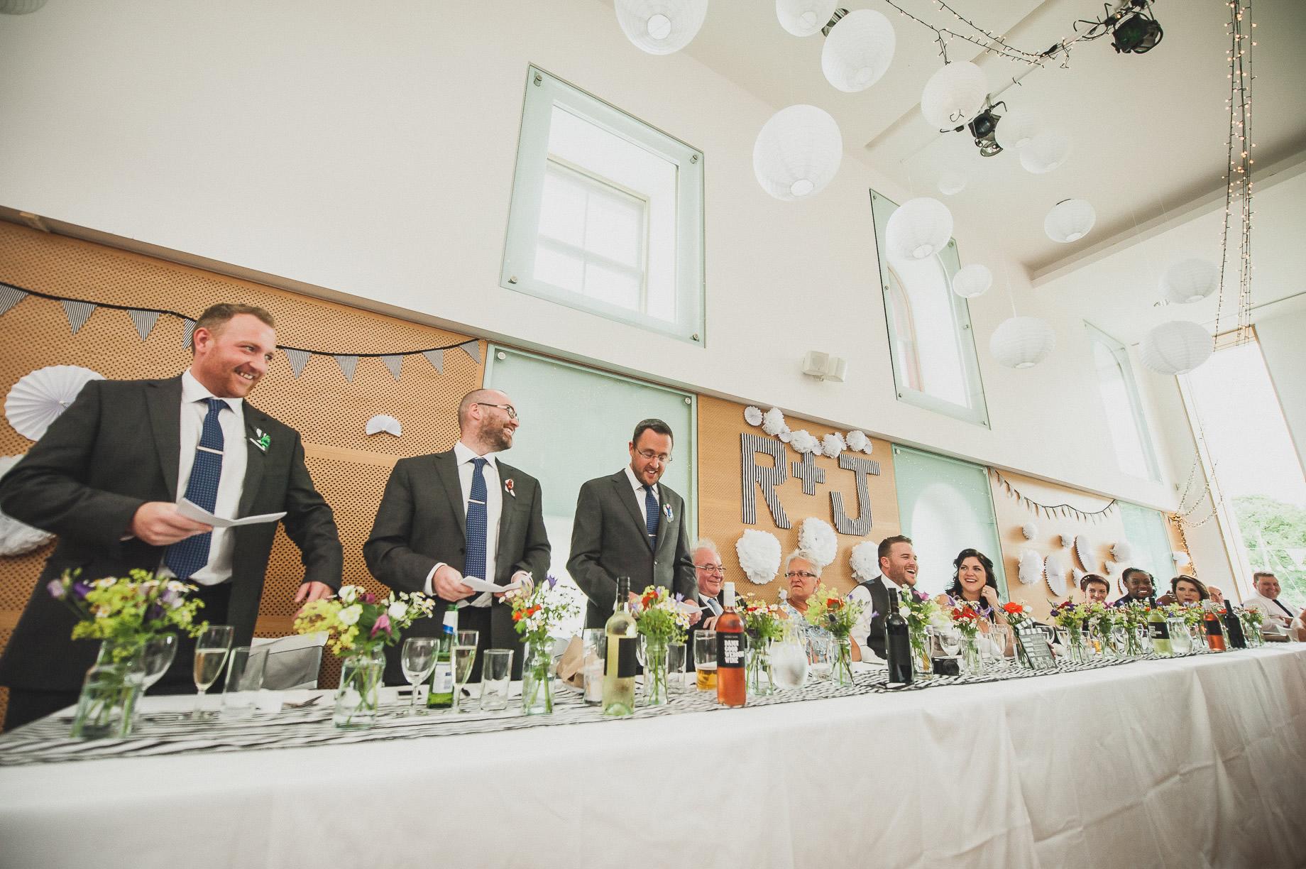 Becky and John's Wedding at Slaidburn Village Hall 147