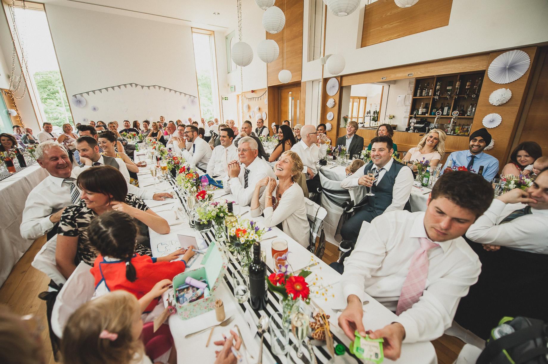 Becky and John's Wedding at Slaidburn Village Hall 151