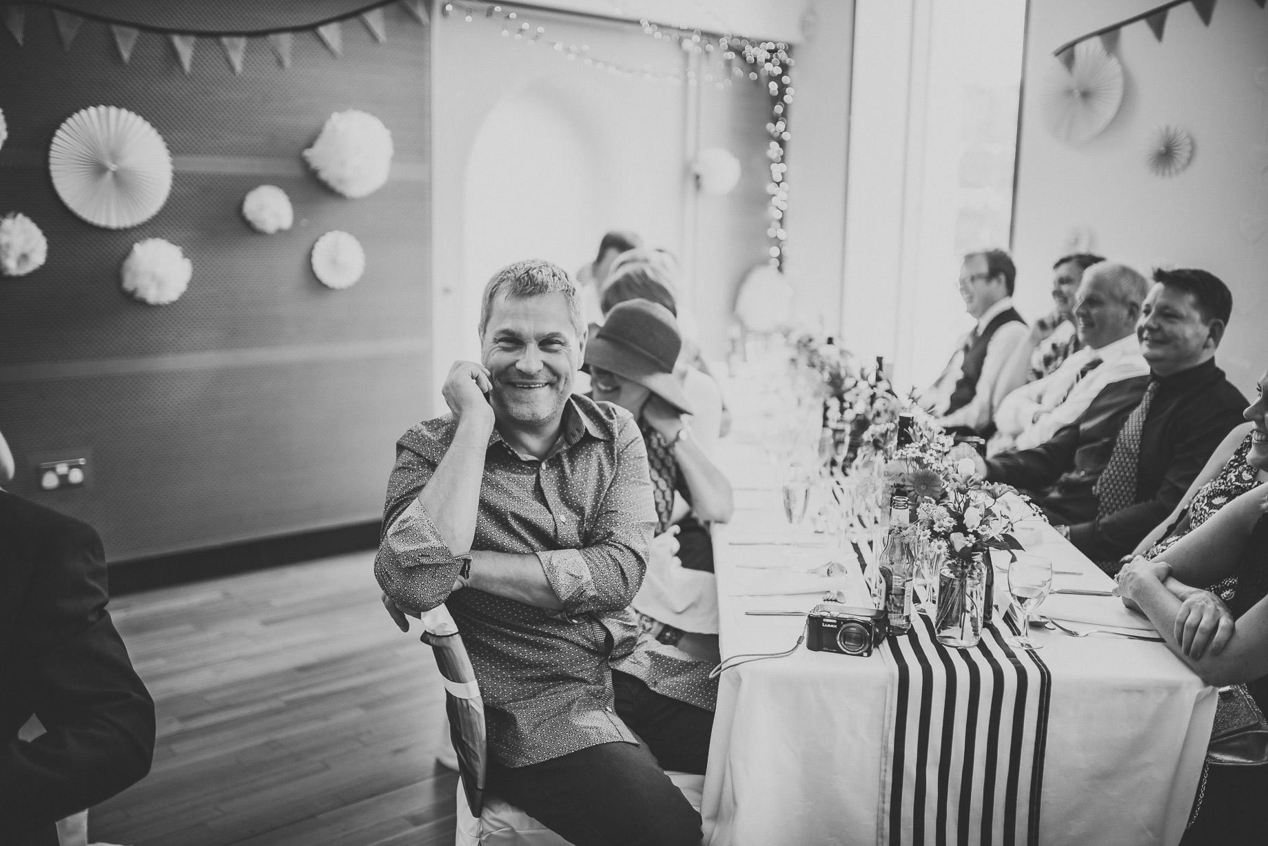 Becky and John's Wedding at Slaidburn Village Hall 152