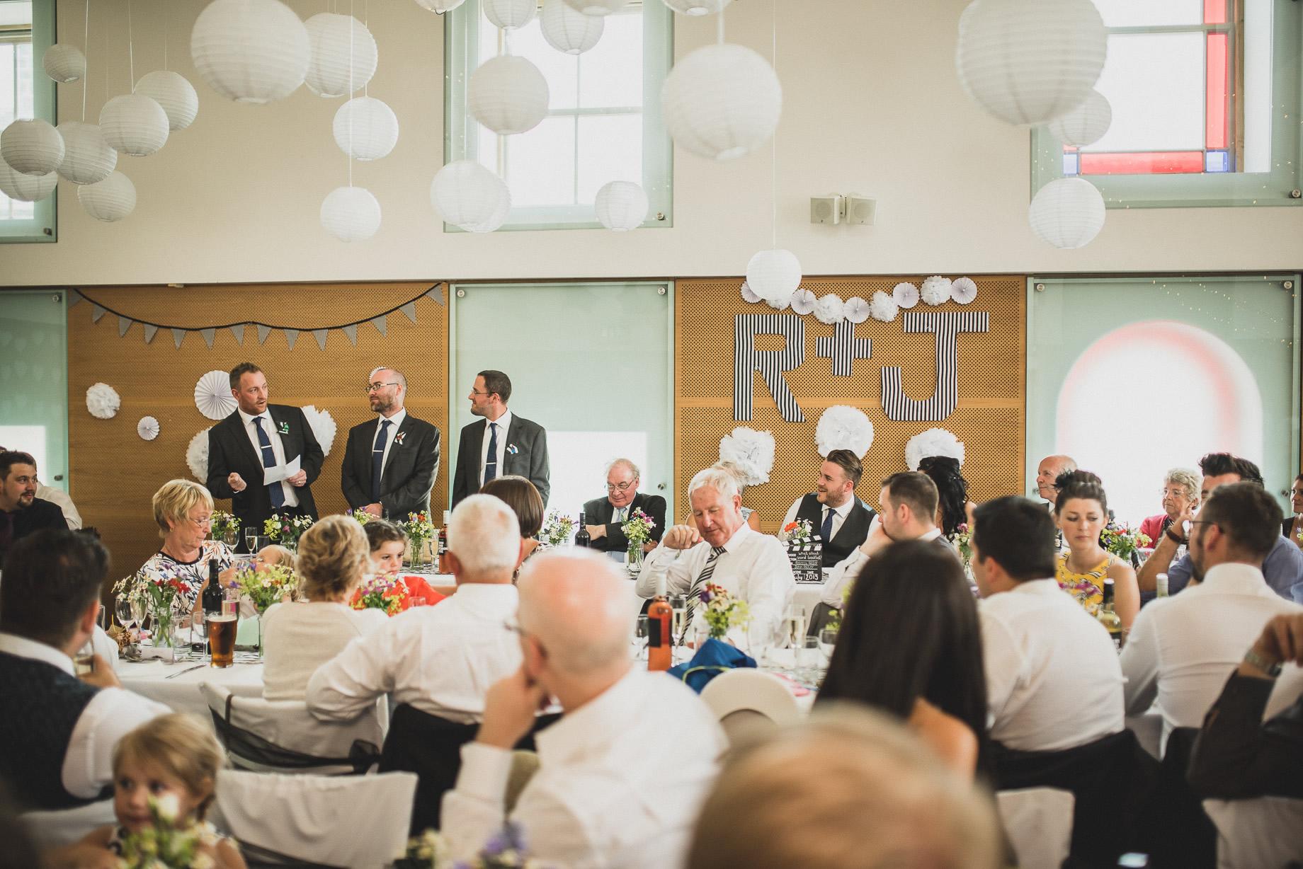 Becky and John's Wedding at Slaidburn Village Hall 153