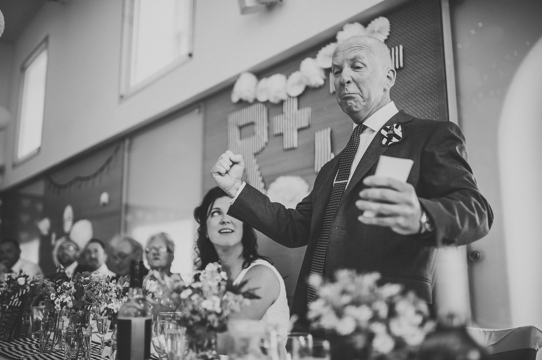 Becky and John's Wedding at Slaidburn Village Hall 161