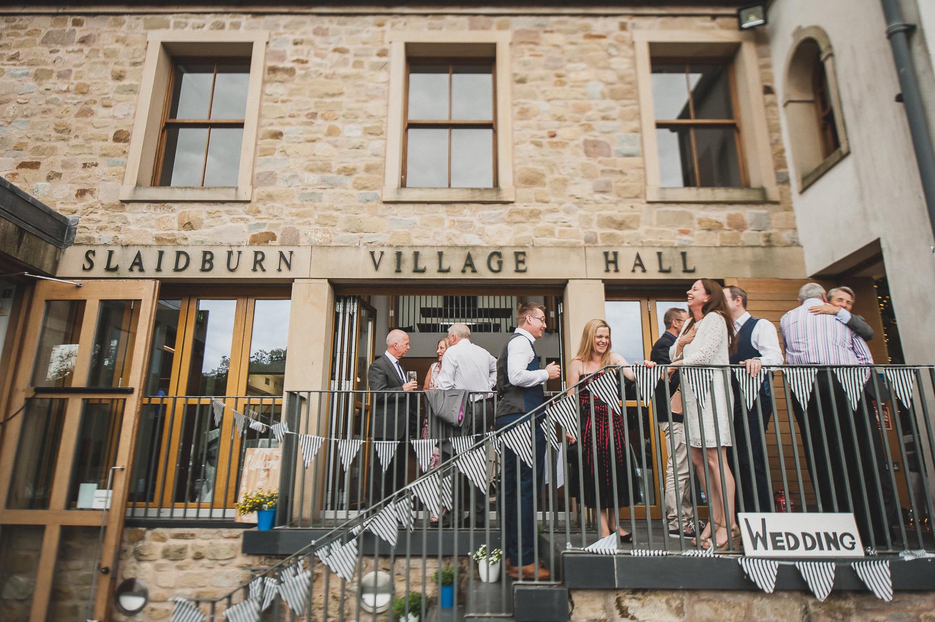 Becky and John's Wedding at Slaidburn Village Hall 171