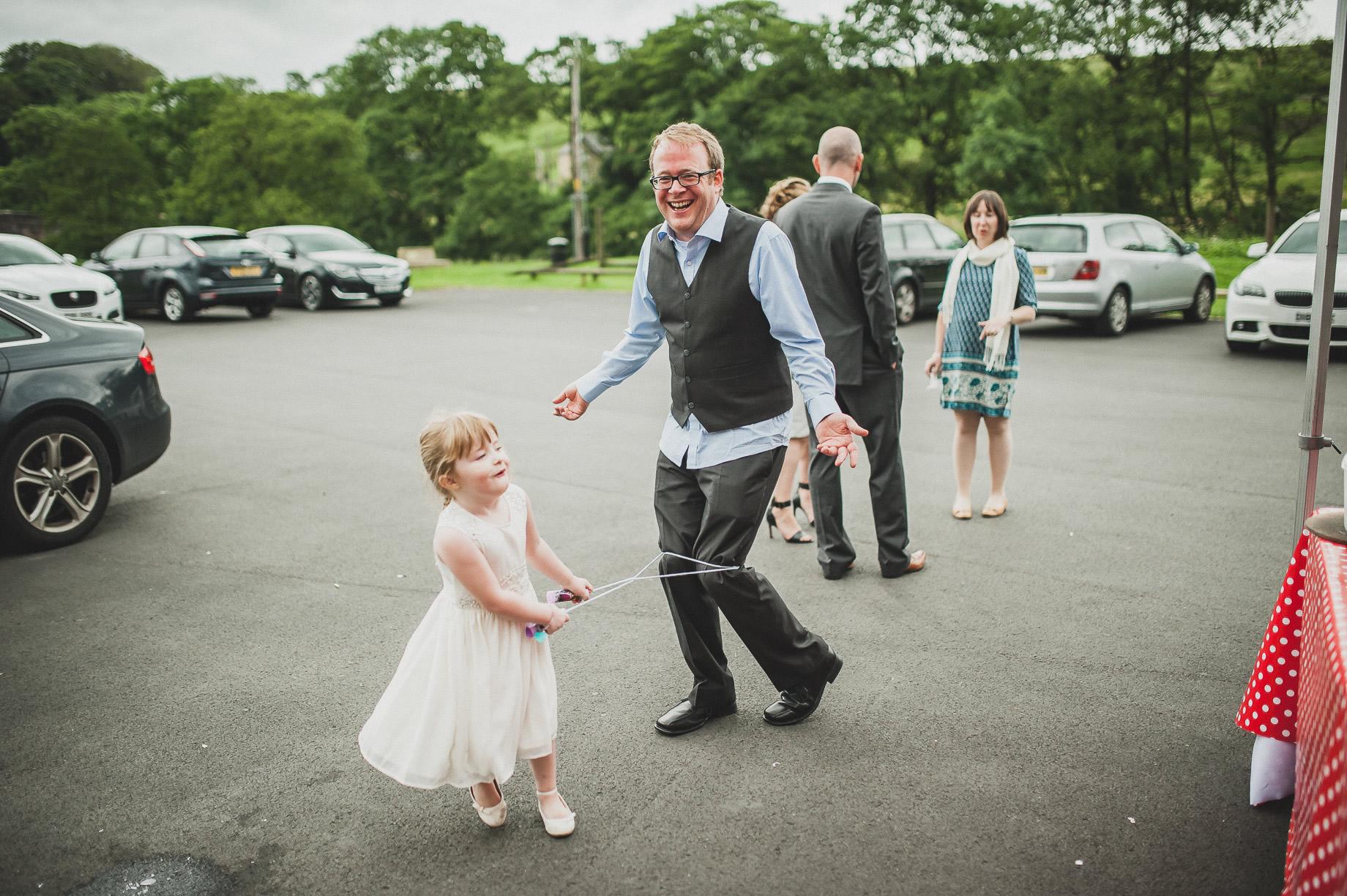 Becky and John's Wedding at Slaidburn Village Hall 176