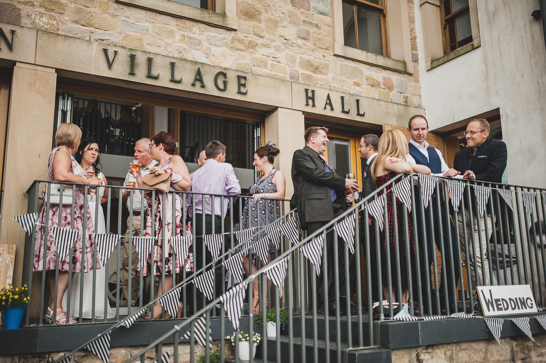 Becky and John's Wedding at Slaidburn Village Hall 177