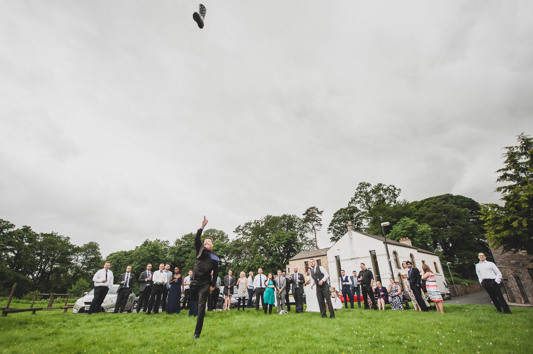Becky and John's Wedding at Slaidburn Village Hall 180