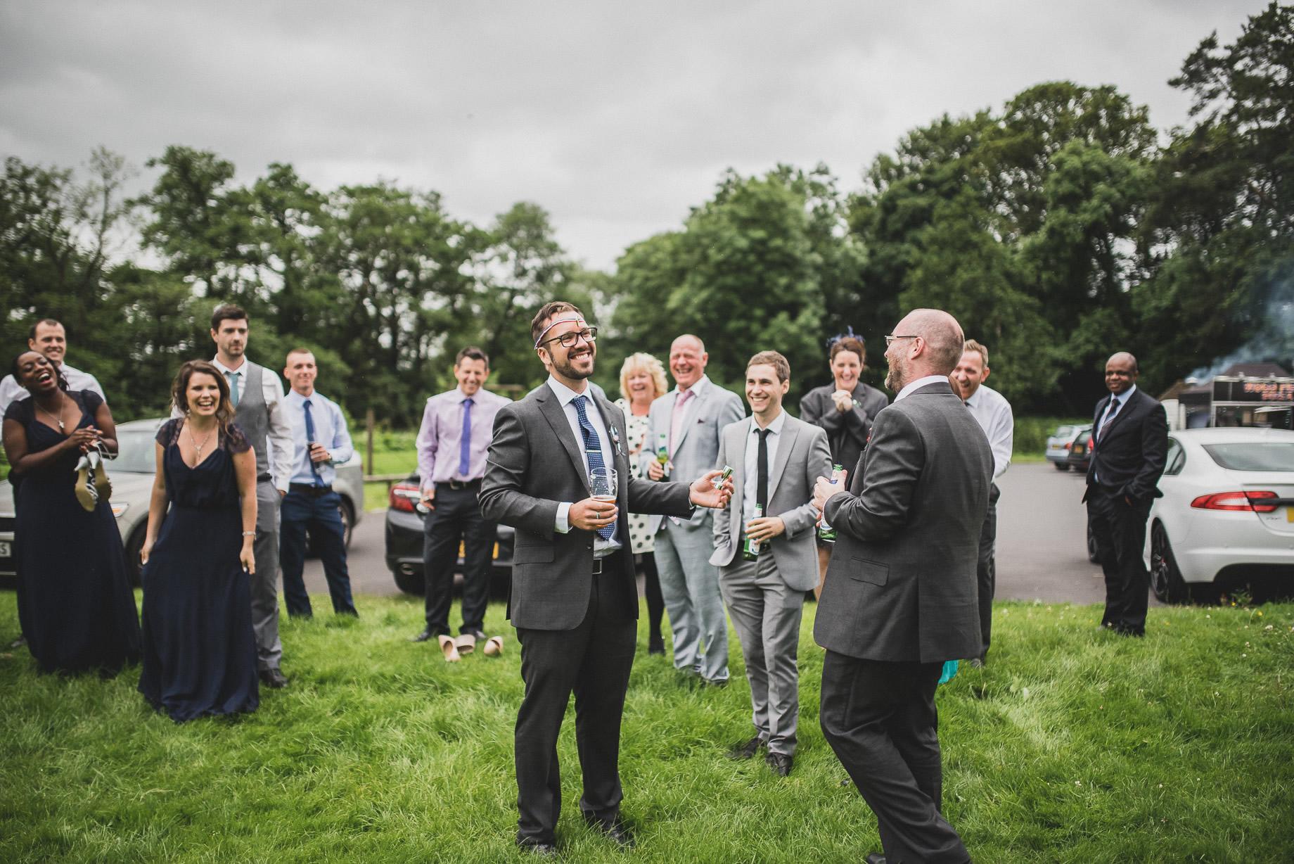 Becky and John's Wedding at Slaidburn Village Hall 181