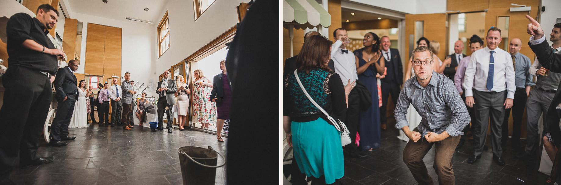 Becky and John's Wedding at Slaidburn Village Hall 183
