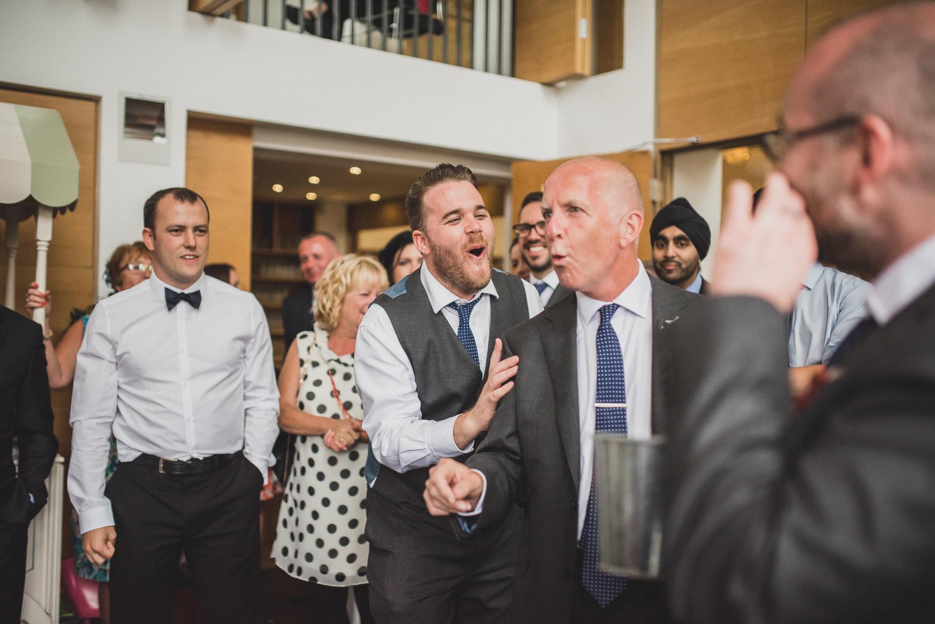 Becky and John's Wedding at Slaidburn Village Hall 188