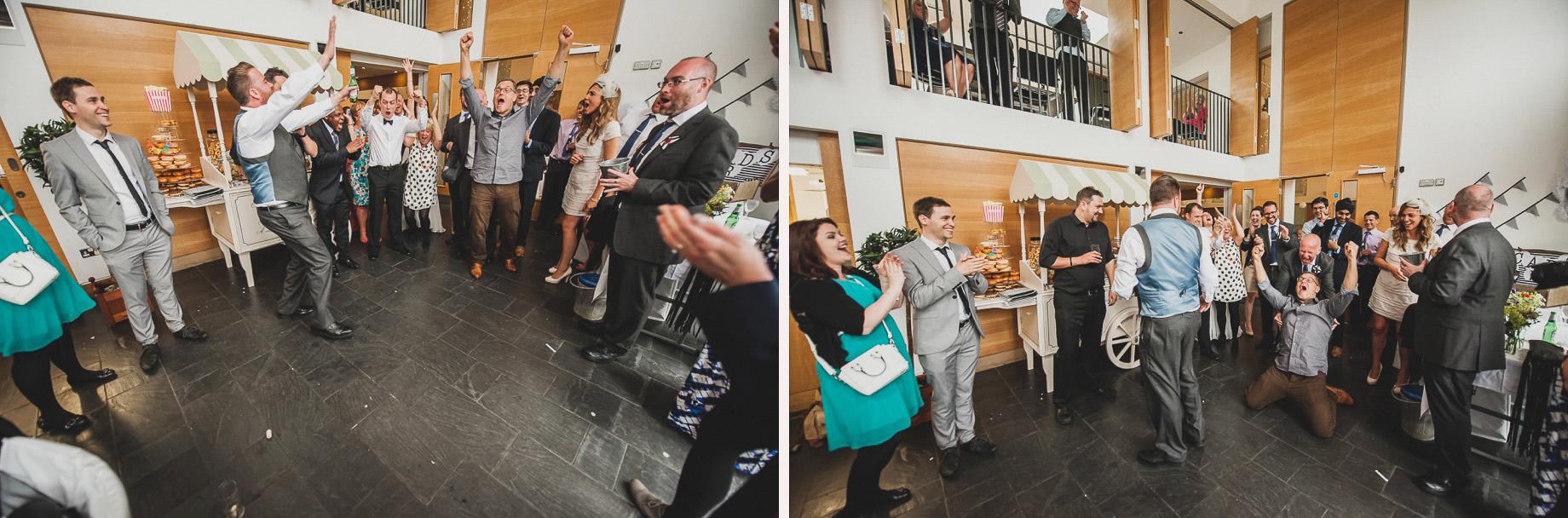 Becky and John's Wedding at Slaidburn Village Hall 190