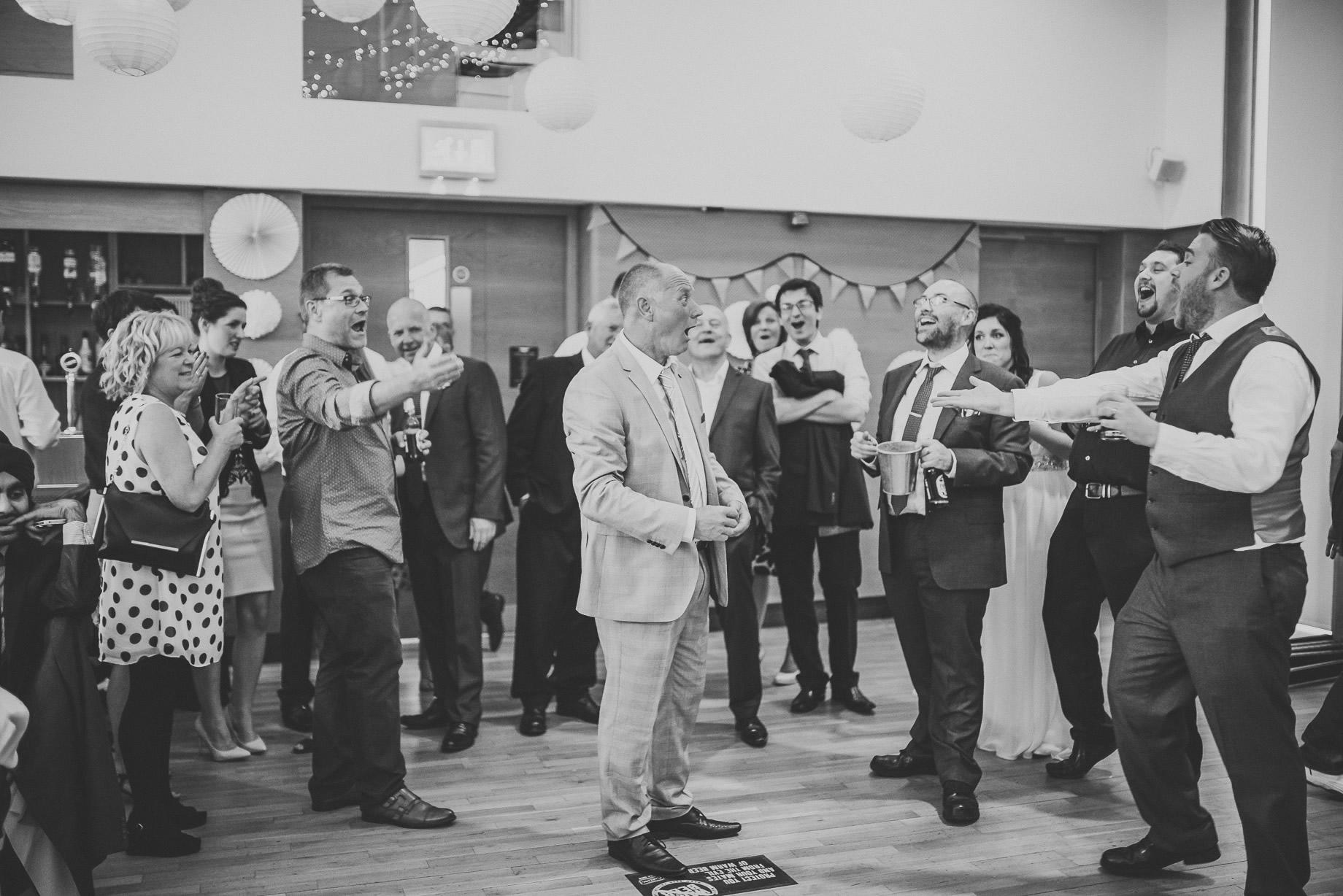 Becky and John's Wedding at Slaidburn Village Hall 192
