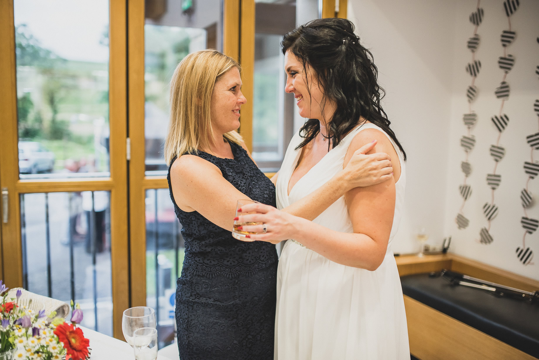 Becky and John's Wedding at Slaidburn Village Hall 209