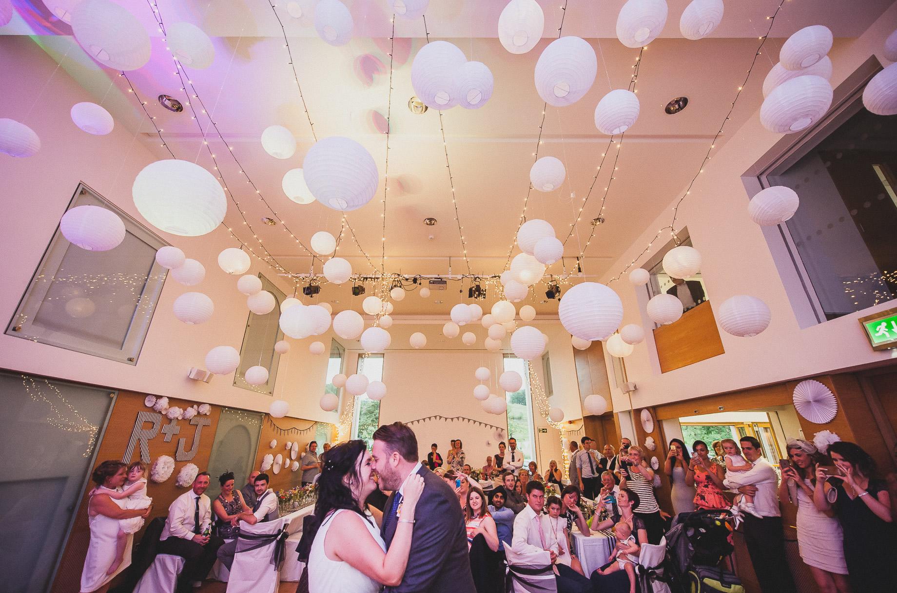 Becky and John's Wedding at Slaidburn Village Hall 210