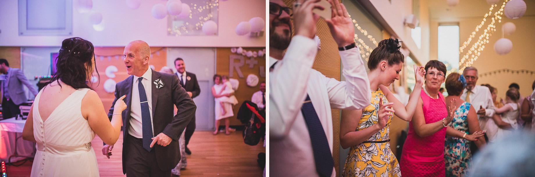 Becky and John's Wedding at Slaidburn Village Hall 213