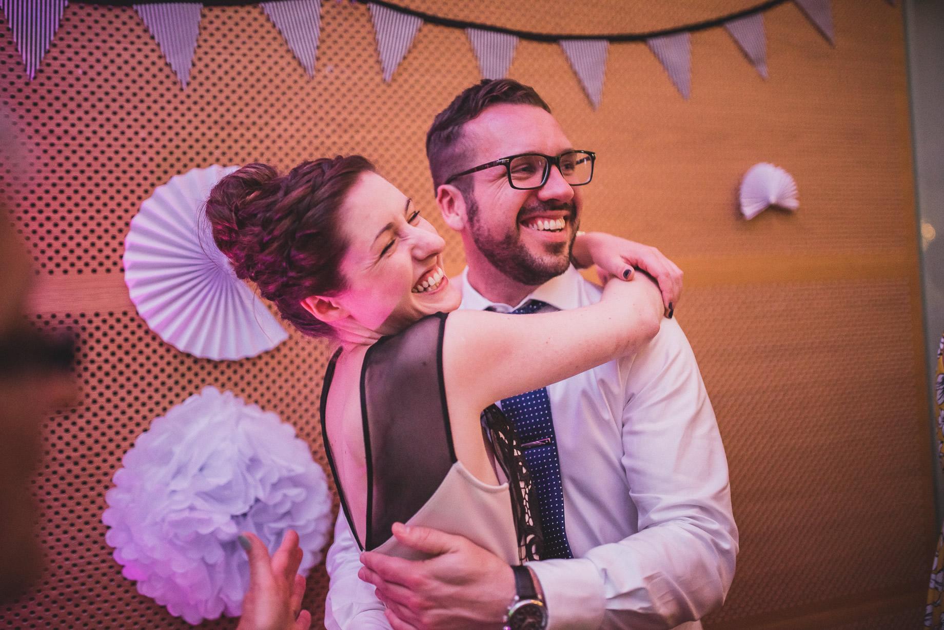 Becky and John's Wedding at Slaidburn Village Hall 214