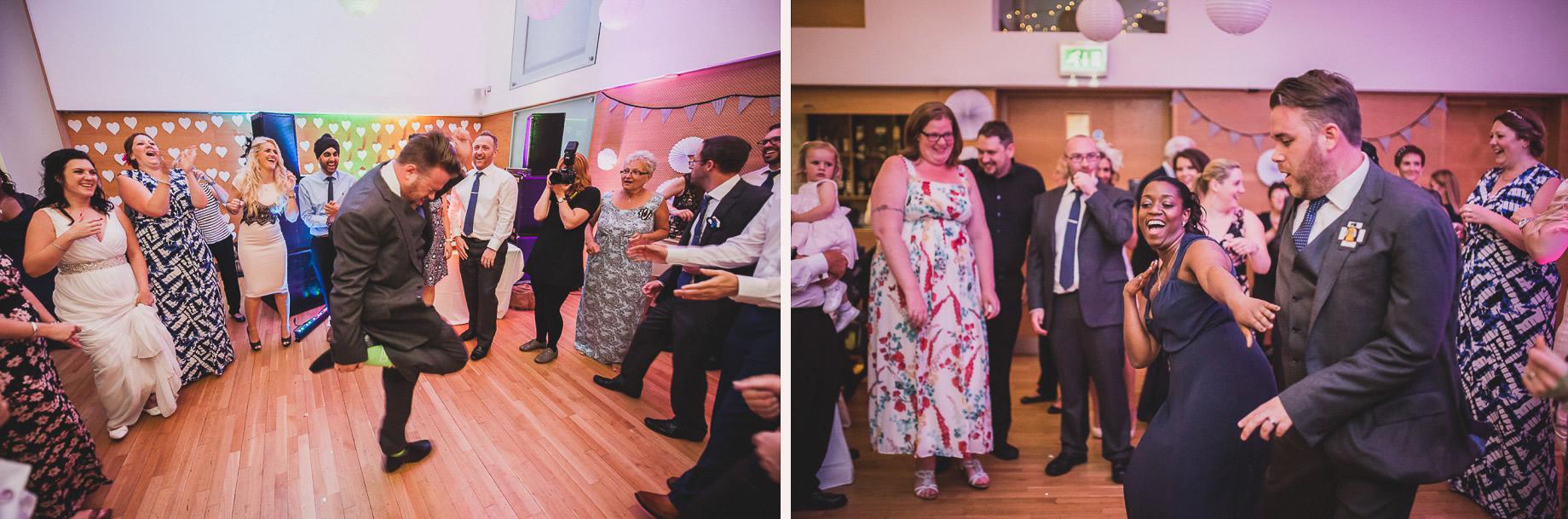 Becky and John's Wedding at Slaidburn Village Hall 216