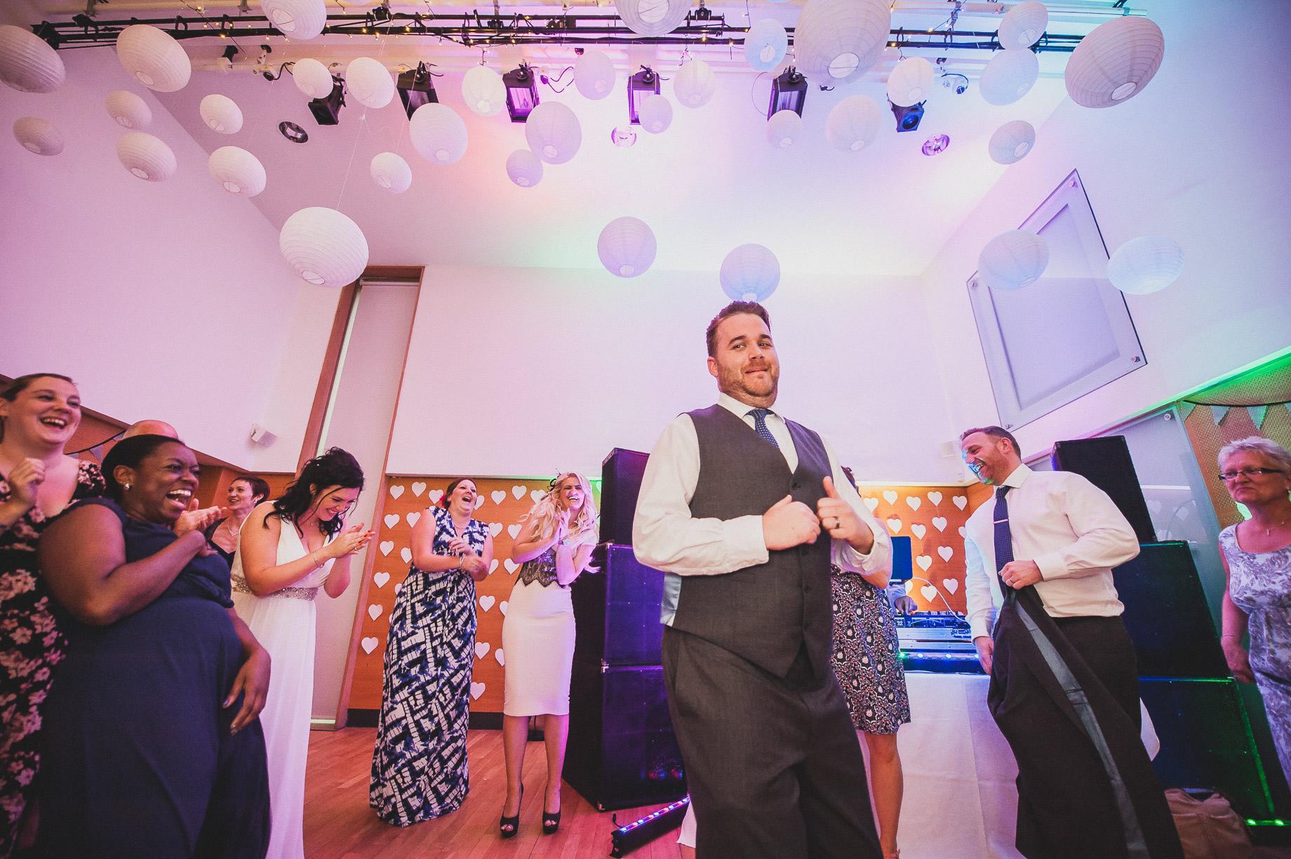 Becky and John's Wedding at Slaidburn Village Hall 217