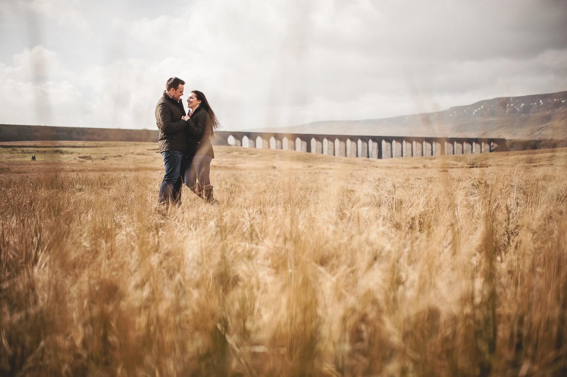 Rachael and Matt's Pre-Wedding Shoot at The Ribblehead Viaduct 013