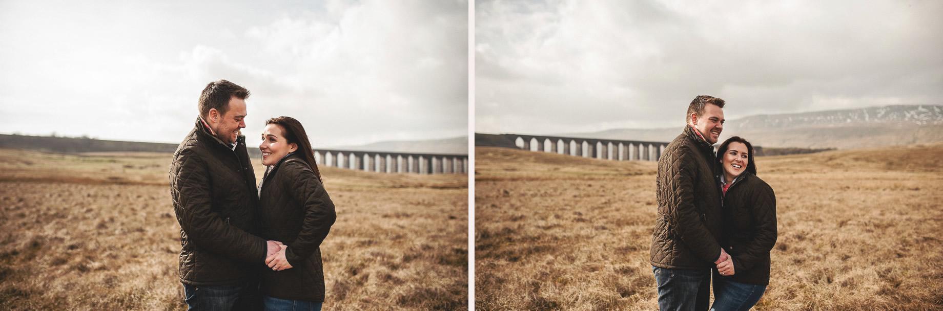 Rachael and Matt's Pre-Wedding Shoot at The Ribblehead Viaduct 015