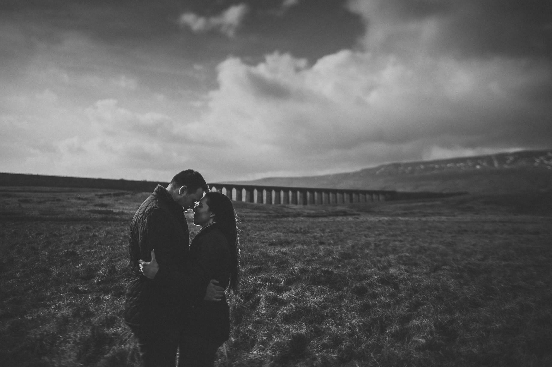 Rachael and Matt's Pre-Wedding Shoot at The Ribblehead Viaduct 016