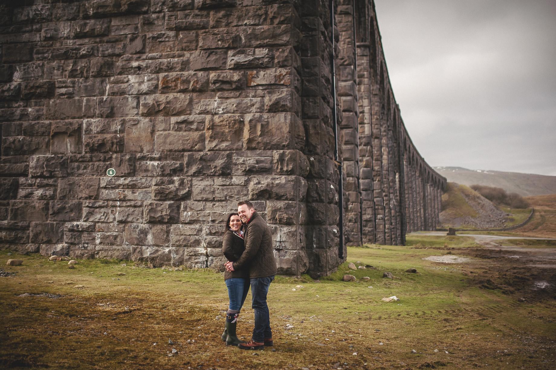 Rachael and Matt's Pre-Wedding Shoot at The Ribblehead Viaduct 025
