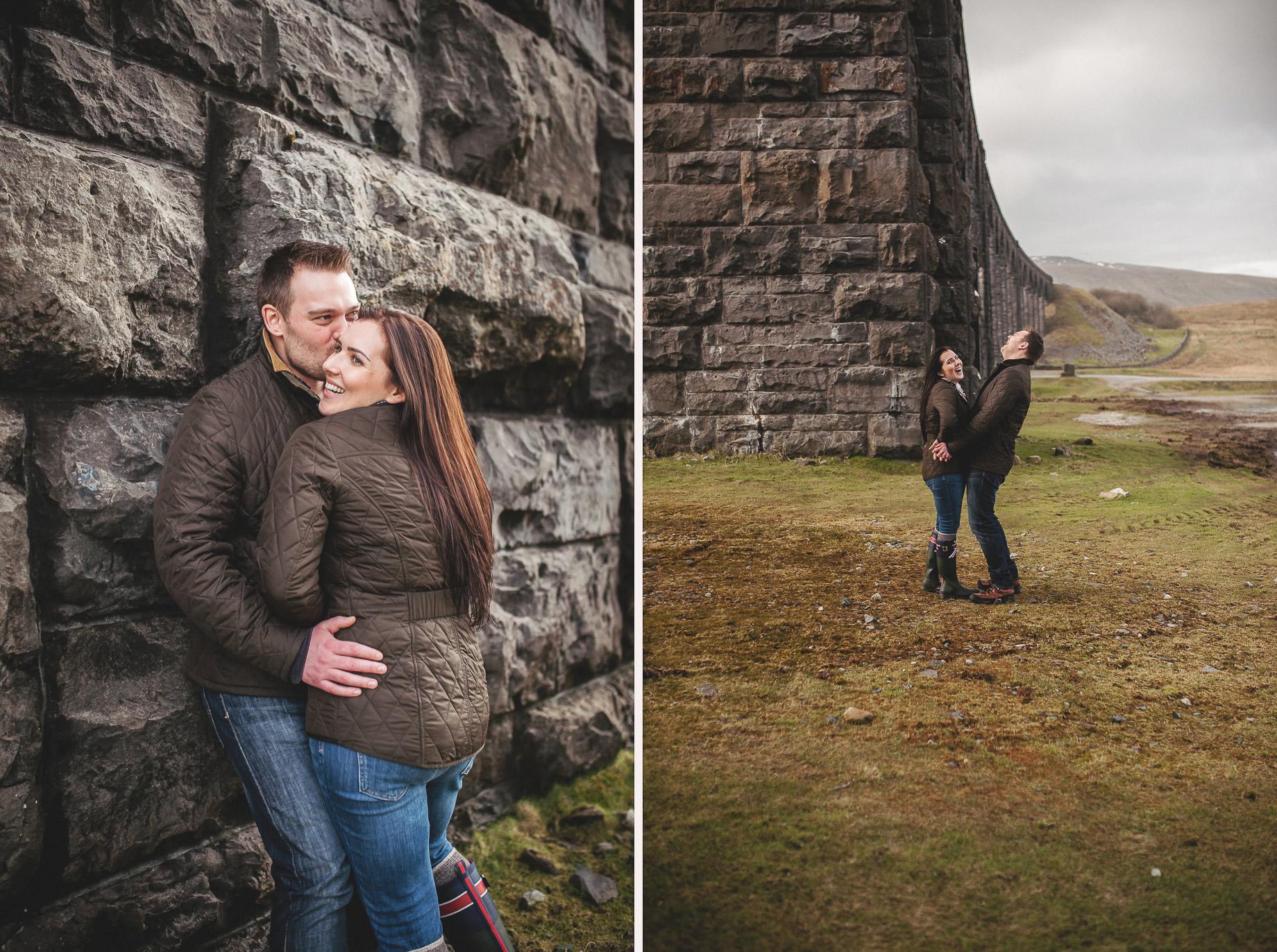 Rachael and Matt's Pre-Wedding Shoot at The Ribblehead Viaduct 026