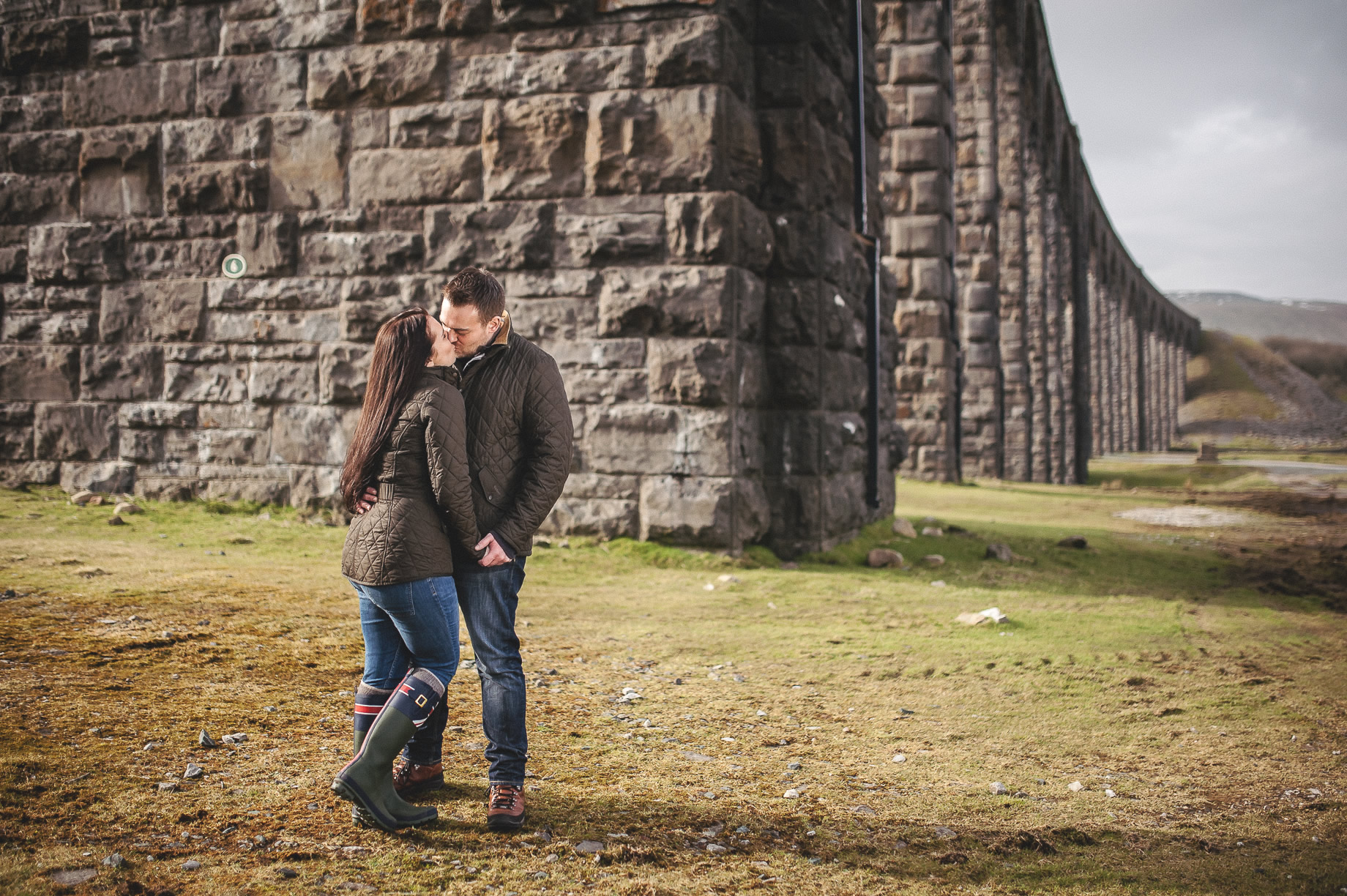 Rachael and Matt's Pre-Wedding Shoot at The Ribblehead Viaduct 030