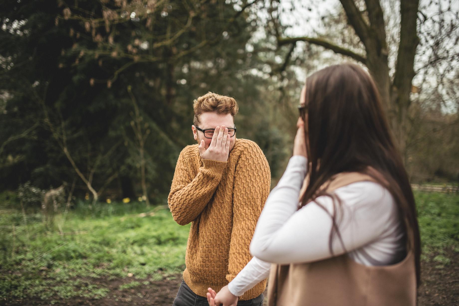 Kerrie and Tom's Portrait Shoot at Fletcher Moss Botanical Gardens 001